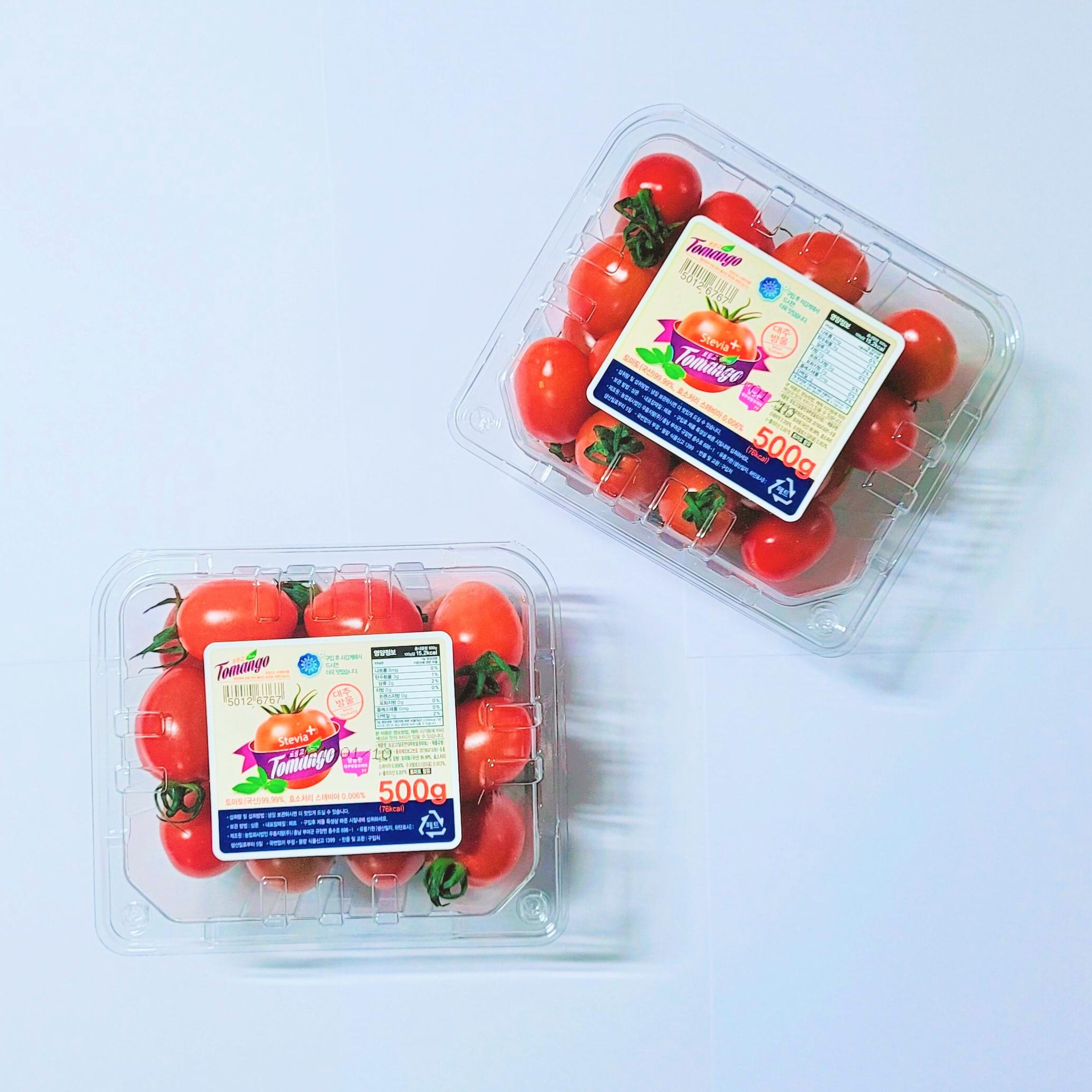 월산식품 [최상품] 스테비아 방울토마토 500g 1kg 2kg 토망고, 스테비아 방울토마토 2kg (4팩)