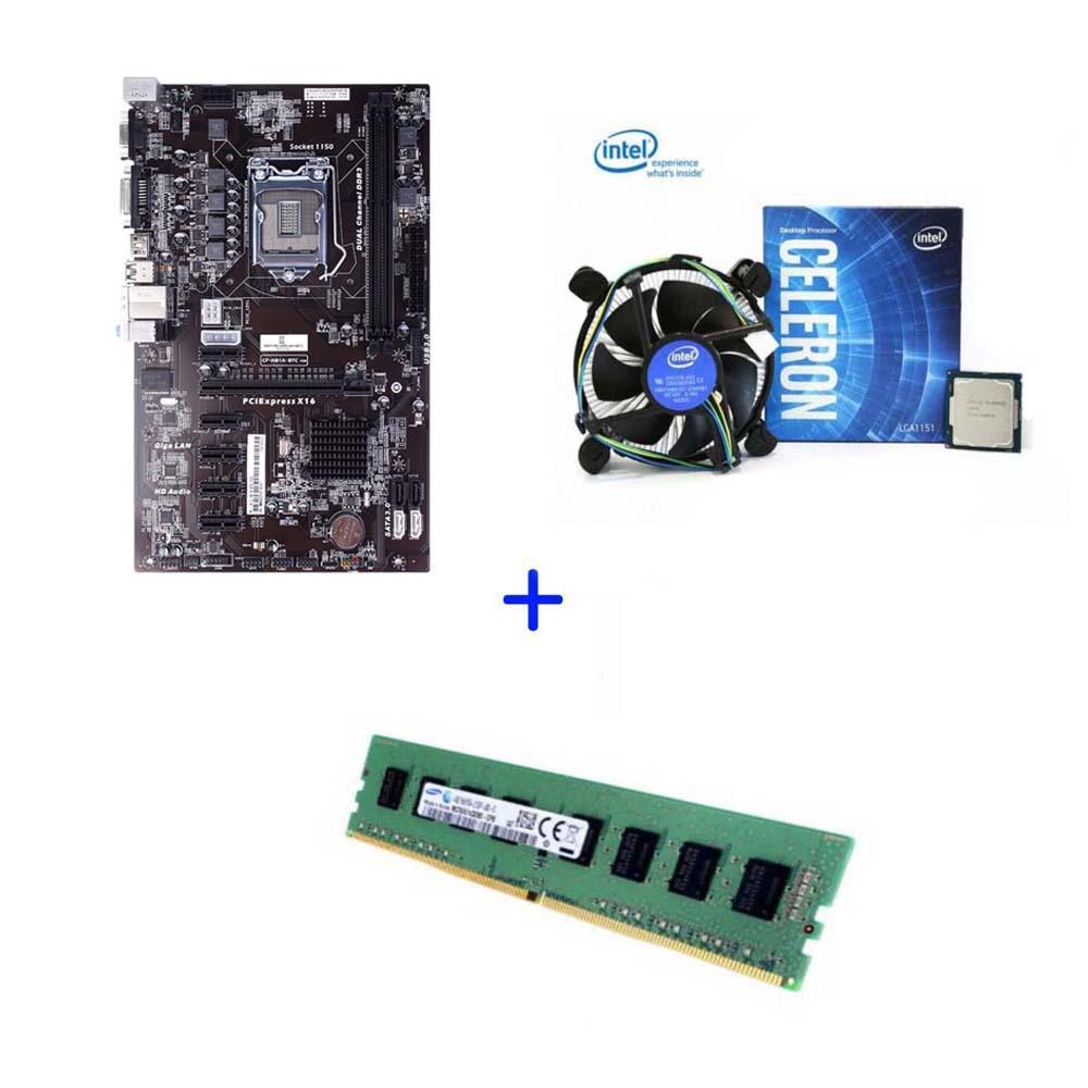 중고 6WAY 메인보드 ASRock H81 PRO 6WAY CPU 4G RAM포함 COLORFUL iNOVIA 채굴기 이더리움 비트코인, 메인보드+CPU+4G RAM