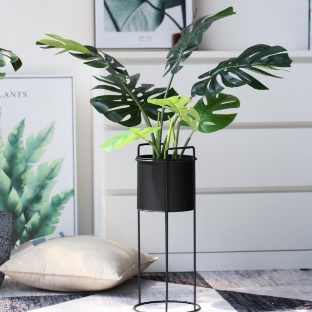 몬스테라 대형 인조나무 고급형 조화 (화분바구니 포함) - 78cm
