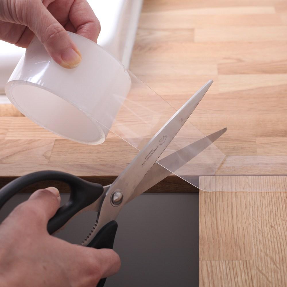 온라이프 투명 방수 테이프 욕실 주방 다용도 생활용품 5cmX3M, 2개