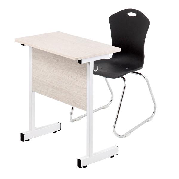 하이스위티 1인용 학원 책상의자세트 05W05~05W06 책상-오크, 의자-연결형