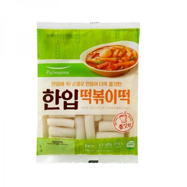 풀무원 우리쌀 한입 떡볶이 떡 400g, 아이스박스 포장, 단일상품