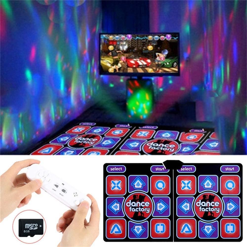 AM ANNA 2인용 티비 컴퓨터 겸용 DDR PUMP 던블 플레이댄스 댄스 매트 패드 LED 3D, 1세트, YXSR1
