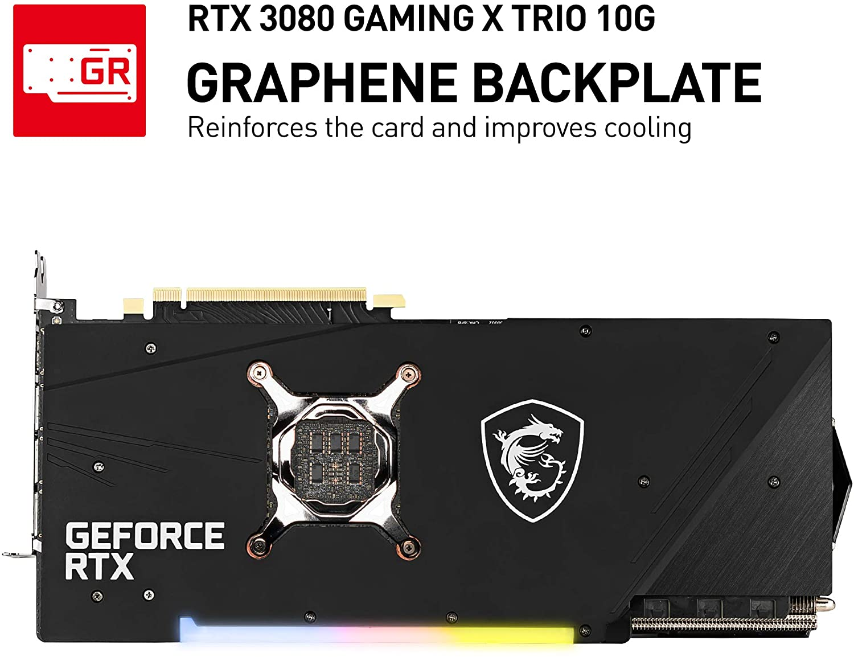 (관부가세별도) MSI Gaming GeForce RTX 3080 10GB GDRR6X 320-Bit HDMI/DP Nvlink Tri-Frozr 2 Ampere Architecture OC Graphic-B08HR7SV3M, one colorone size