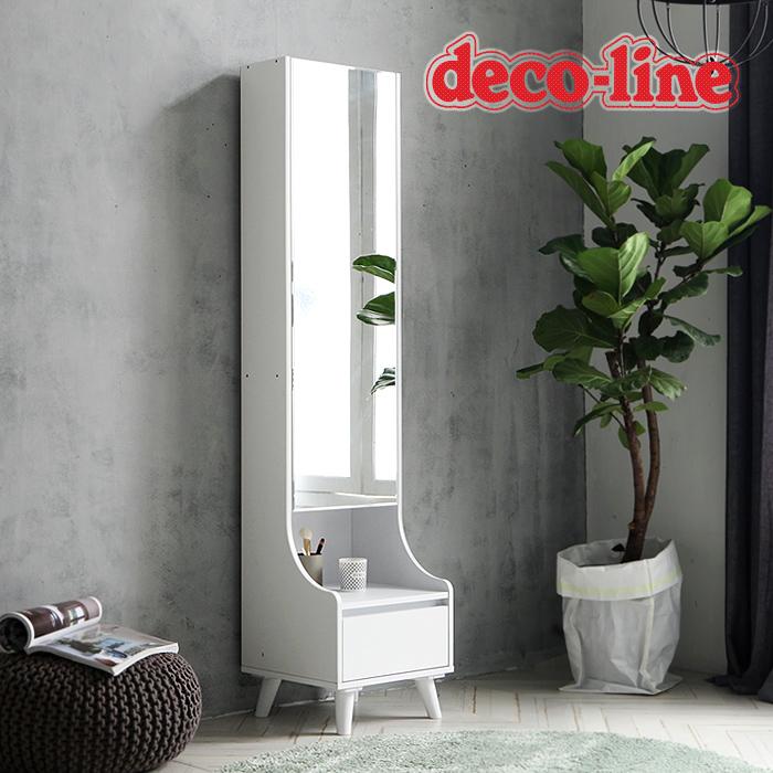 [데코라인] 시크 전신거울 화장대 화이트