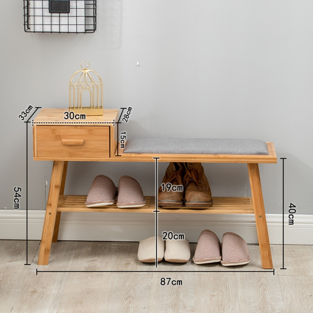 북유럽 원목 미니신발장 좁은현관 신발 인테리어 선반, M