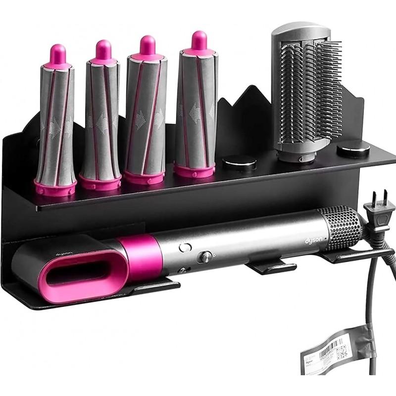 다이슨 에어랩 스타일러 컬링을 위한 키신 헤어 드라이어 컬링 벽마운트와 7컬(블랙)