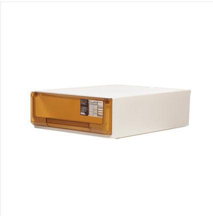 침대협탁 플라스틱 서랍식 수납장 캐비닛 국다용도 침대헤드 장난감 옷가지 문서 자유롭게조합가능, C03-5114투명한 브라운 18리터