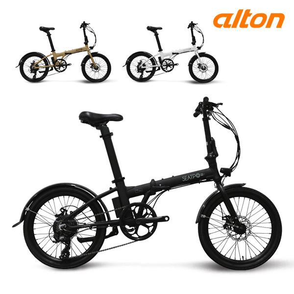 전기 자전거 2020 알톤 싯포 FD20 파스 스로틀 접이식, 20 무광블랙 (파스)