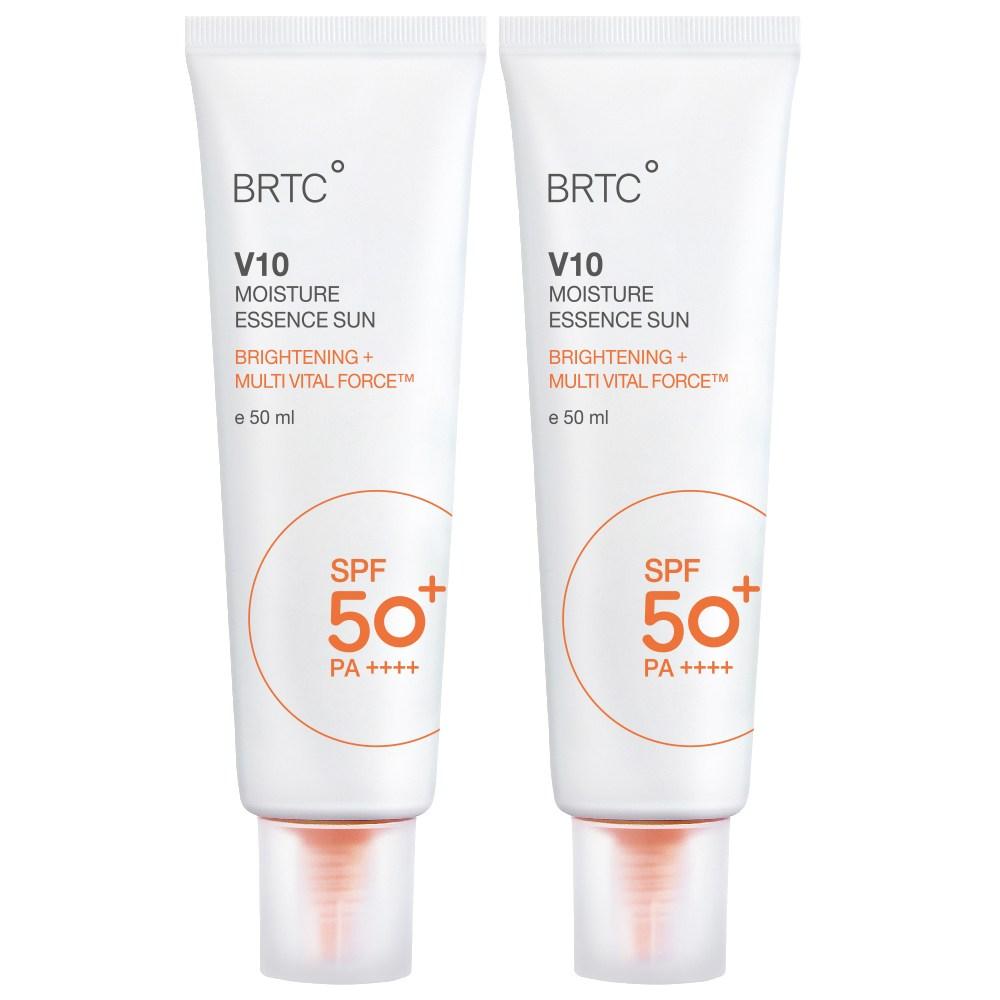 BRTC V10 UV 모이스처 에센스 선크림 50ml SPF50+ PA++++, 2개
