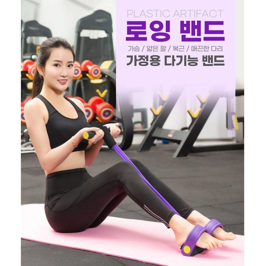 로잉밴드 근력밴드 스트레칭 전신튜브밴드, 퍼플