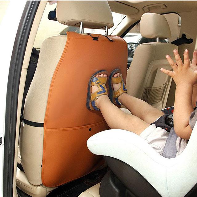 굿아이템 자동차 시트커버 킥매트 차량용 가죽시트 의자커버 카매트 자동차매트, 검정, 1개