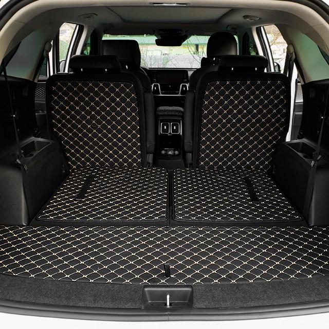 쏘렌토 MQ4 6인승 퀄팅 레더 트렁크 매트, 블랙, 쏘렌토MQ4