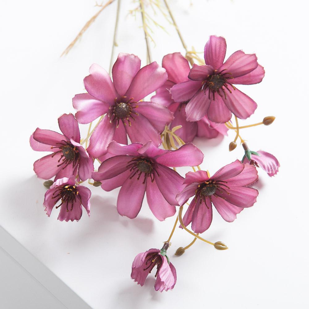 노블코스모스가지 68cm 조화 조화꽃 인테리어 FAIAFT, 레드