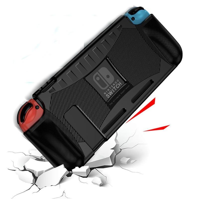 닌텐도 스위치 Nintendo Switch 용 실리콘 TPU 케이스 충격 방지 보호 커버 쉘 Nintend Switch NS 용 인체 공학적 핸들 그립 액세서리 케이스, 푸른