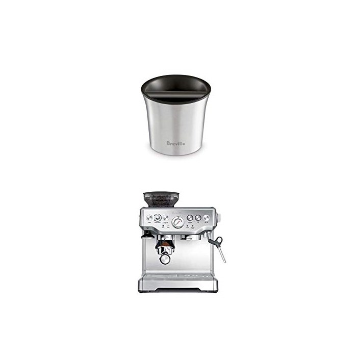 Breville BES870XL Barista Express Espresso Machine and BCB100 Barista-Style Coffee Knock Box Bundle, One Size, One Color