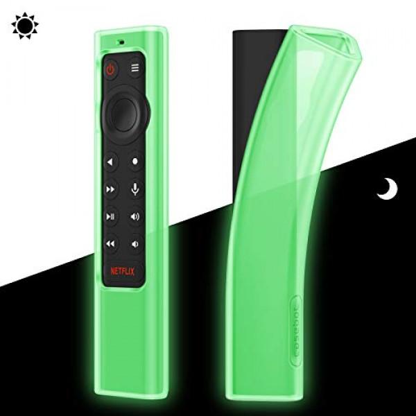 NVIDIA Shield TV Pro / 4K HDR 조종기 용 Fintie 케이스-CaseBot 경량 (미끄럼 방지) 충격 방지 실리콘 커버, 단일상품