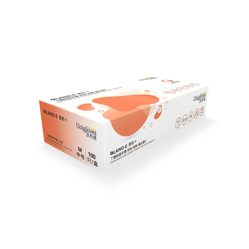 고무장갑 Unigloves일회용 장갑 민트 청향 생물 실험실 과학연구 라텍스, T03-M, C01-주황색(르노 E-오렌지)