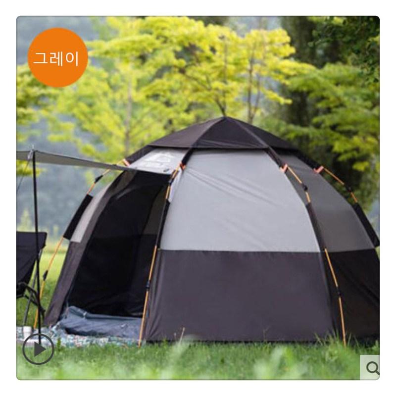 텐트 3-4인 전자동 호우방지 가후 방수 캠핑장비 캠핑커플LH0304, 5