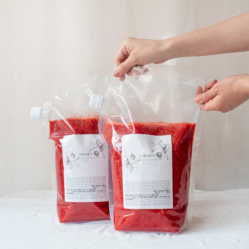 마법의 딸기청 카페 딸기라떼 수제 과일청 대용량 5kg, 단일상품