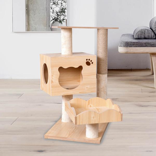 그네 원목 캣타워 캣폴 고양이 용품 놀이터 해먹 침대, M043 밀도 보드