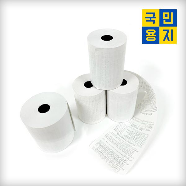 [국민용지] 정품 포스용지 영수증용지 카드영수증 약관 79X70(신규) 50롤