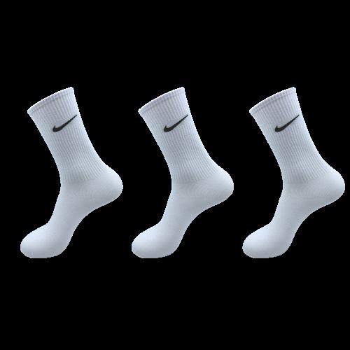 나이키스포츠 장목 에브리데이 쿠션 양말 크루삭스 흰색 3켤레 남여공용