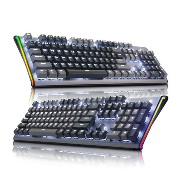 앱코 HACKER K663 V1 완전방수 축교환 LED 알루미늄 키보드 다크그레이 (무접점 광축 클릭), 선택하세요