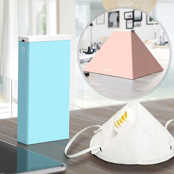 슈페리온 KC인증 휴대용 무선UVC LED자외선 살균소독기 마스크 휴대폰 면도기 칫솔 젖병소독기 지폐 살균소독, UVC-1블루