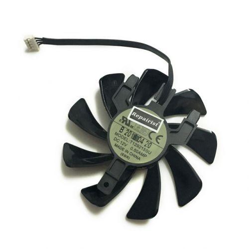 [해외] 사파이어 RX 570 GPU 쿨러 비디오 카드 팬 라데온 사파이어 RX570 ITX 그래픽 카드 냉각 시스템 교체, 상세내용표시