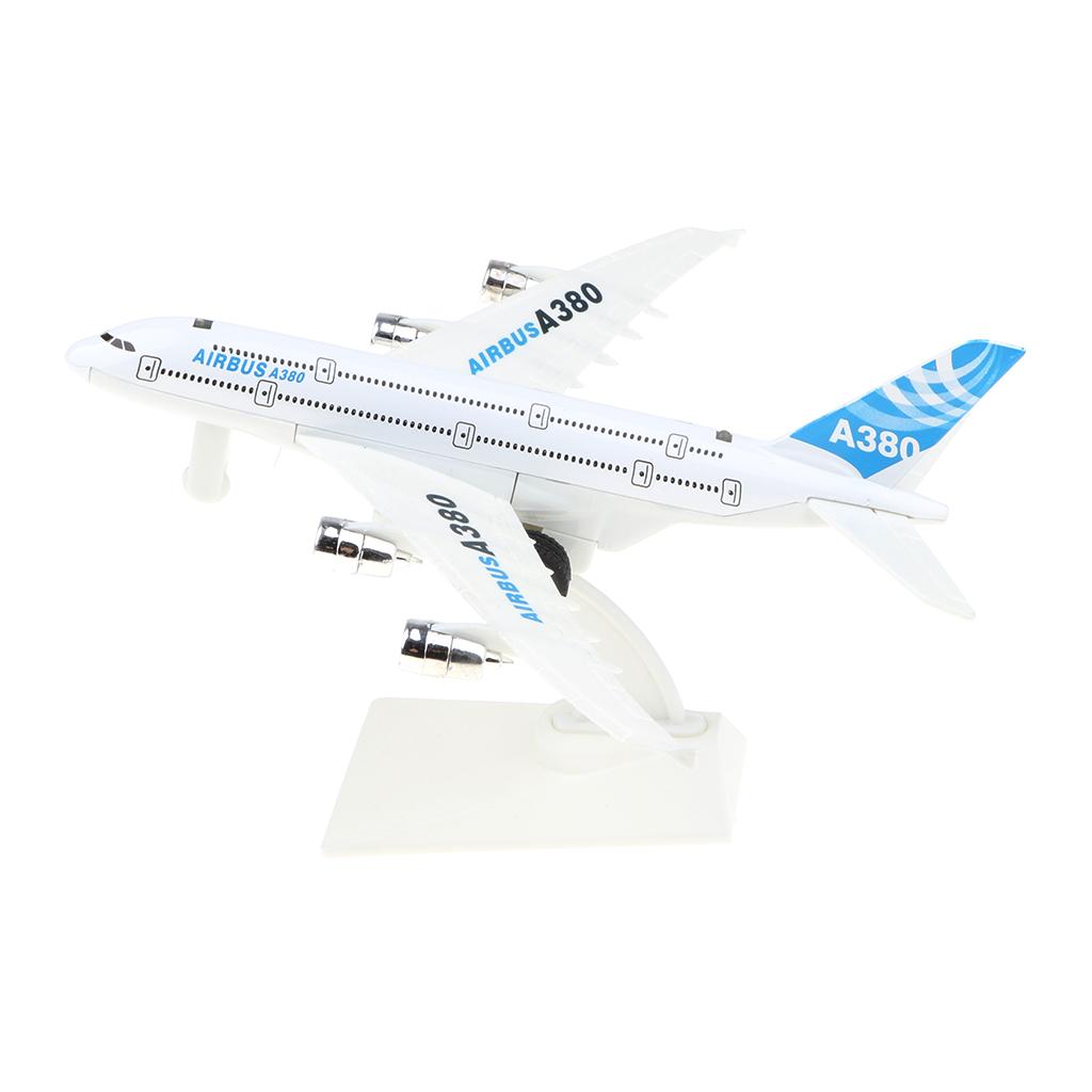 QDY 에어 버스 A380 비행기 장난감 합금 비행기 모델 홈 테이블 장식 장식