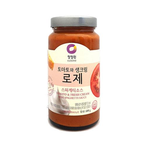 [조이스몰] 청정원 [쉐프추천] 로제스파게티소스600g, 1개