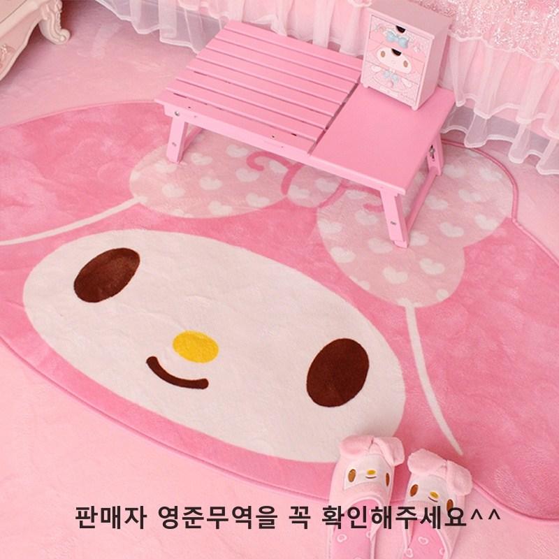 (해외) 마이멜로디 캐릭터 러그 홈매트 핑크