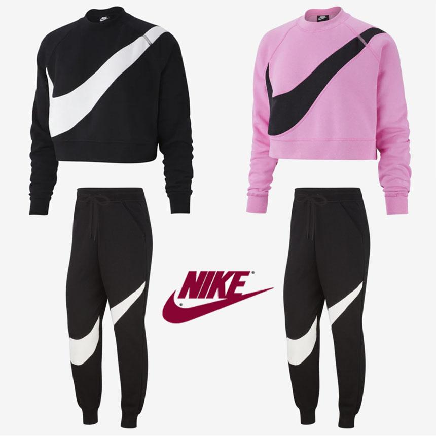 [미국] 정품 나이키 스우시 Nike Swoosh Fleece 여성 기모 맨투맨 트레이닝 바지