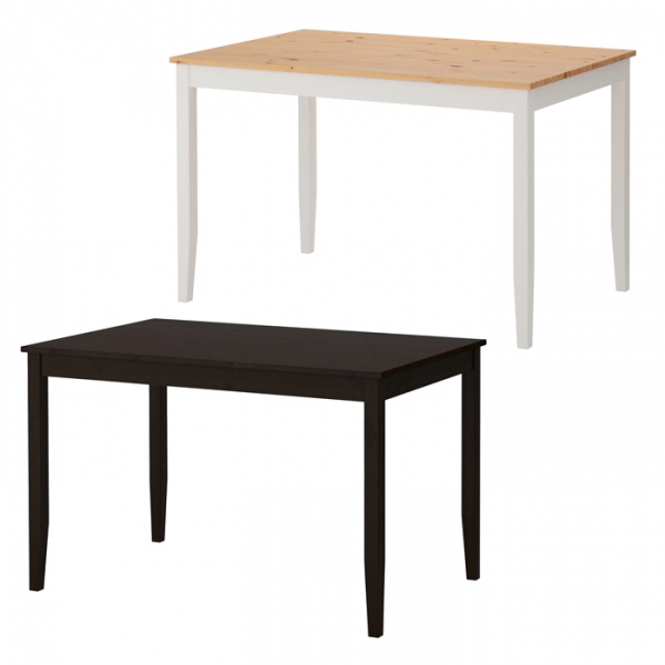 이케아 LERHAMN 레르함 테이블/4인용식탁/테이블/원목식탁, 블랙브라운_703.656.33