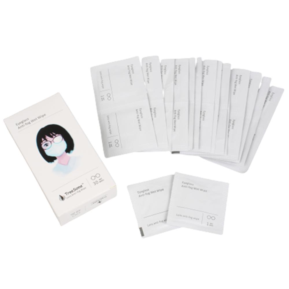 원웨이 김 서림 방지 일회용 30매 마스크 안경 김서림 이제그만 휴대성 좋은 안경 클리너, 일회용 클리너 30개