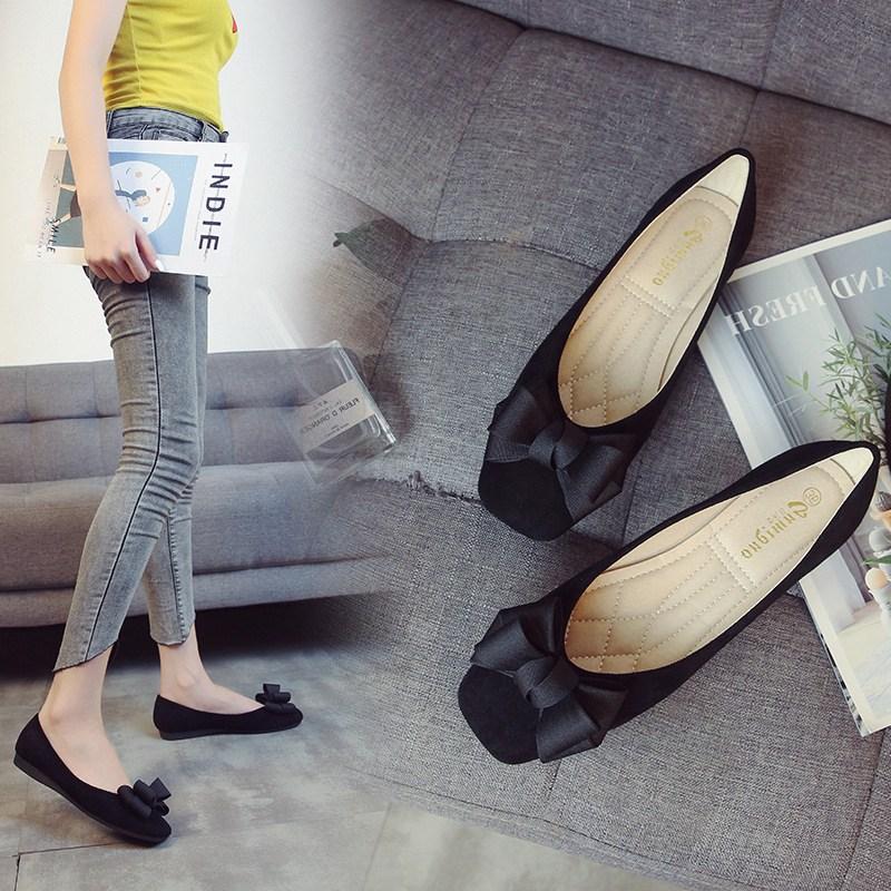 Beststar 빅 사이즈 여성화 리본 단화 임산부 신발