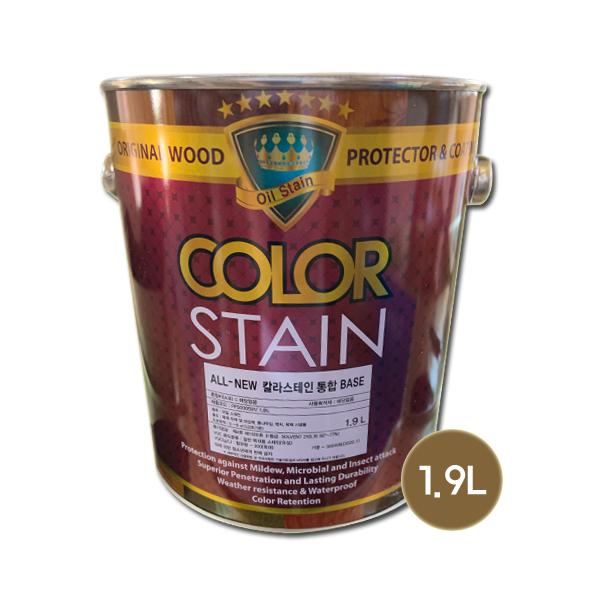 노루페인트 곰팡이방지 목재보호용 올뉴 칼라스테인 무광 1.9L, 투명