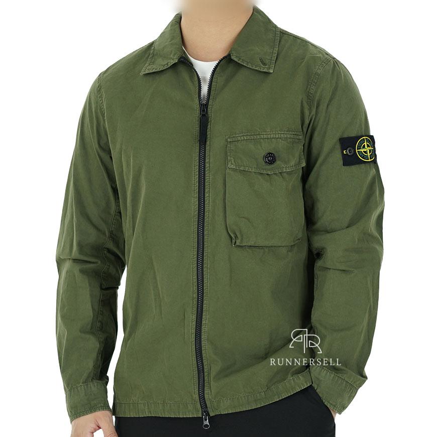 20SS 스톤아일랜드 OLD 캔버스 오버 셔츠 7215114WN 카키
