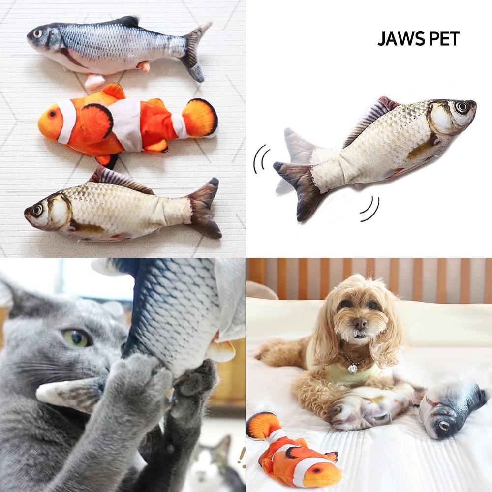죠스펫 움직이는장난감 (팔당물고기) 춤추는물고기 움직이는강아지장난감 움직이는고양이장난감, 1개, (열대어) 움직이는장난감 팔당물고기1P