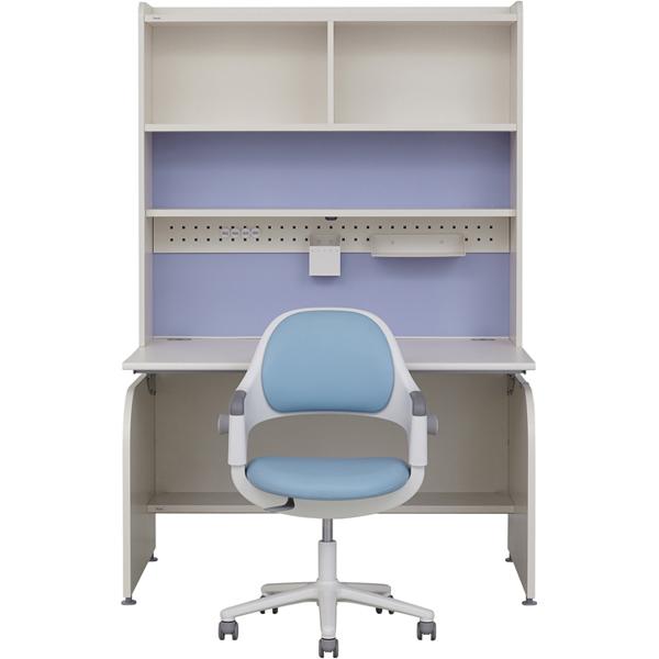 일룸 링키 컴팩트 책상세트 + 시디즈 링고의자, 아이보리+블루:인조가죽블루