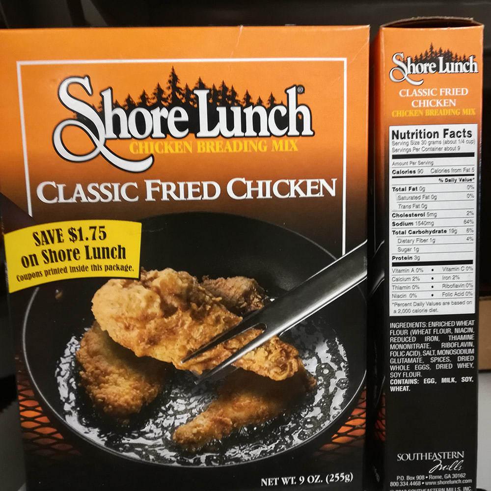 Shore Lunch 프라이드 치킨 반죽 믹스, 1세트, 255g