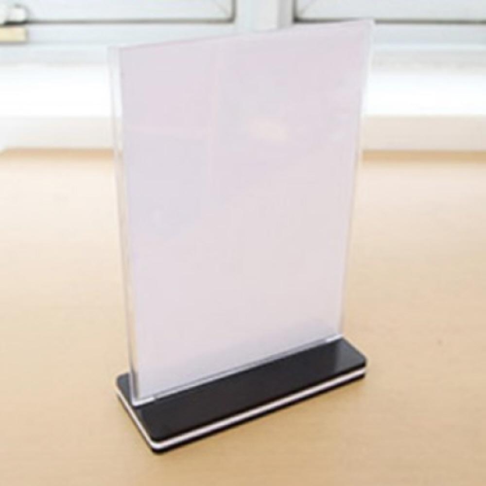 T자 꽂이 A4 용지 거치대 홀더 메뉴판 아크릴 게시판