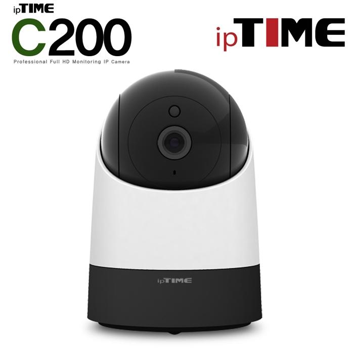 ipTIME C200 IP카메라 200만화소 홈CCTV카메라 가정용 반려동물 애견 야간감시모드 지원