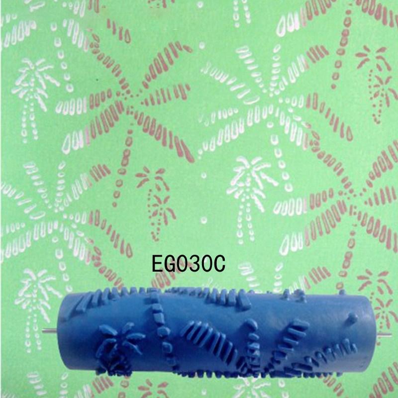 롤러 수동 드럼 프린팅 가정용기계 벽페인트칠 액체 벽지 플라워무늬 엠보 페인트 몰드 롤링브러쉬 예술