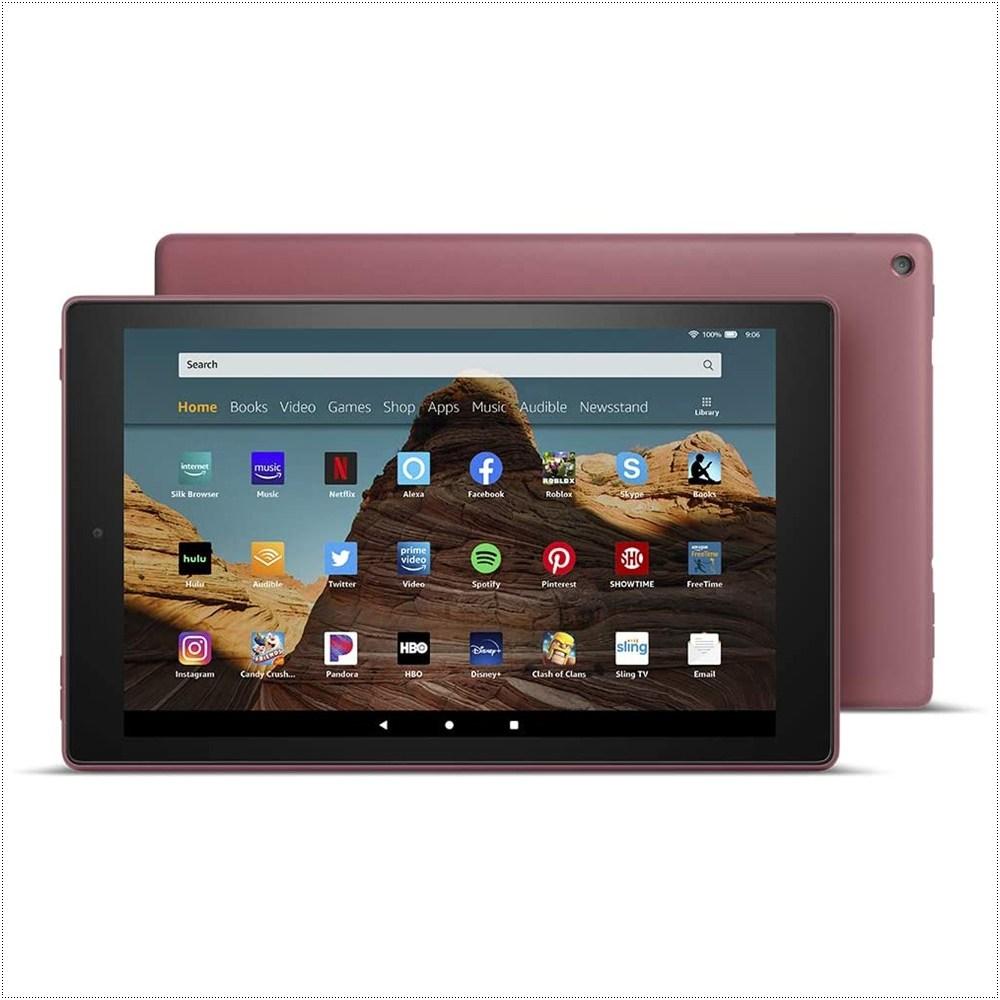 아마존 파이어 10인치 태블릿 1080p full HD display, Plum, 32 GB