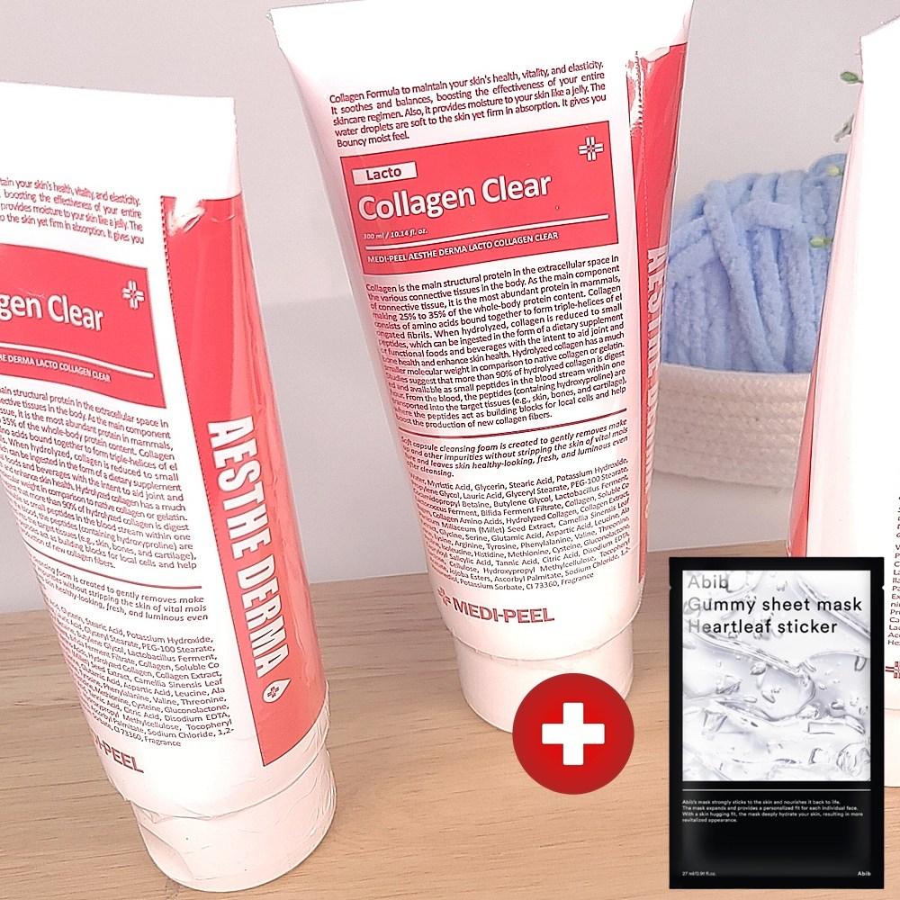 메디필 에스테 더마 유산균 콜라겐 클리어 나혼자산다 손담비 클렌징폼 300ml + 아비브 어성초 마스크 1매