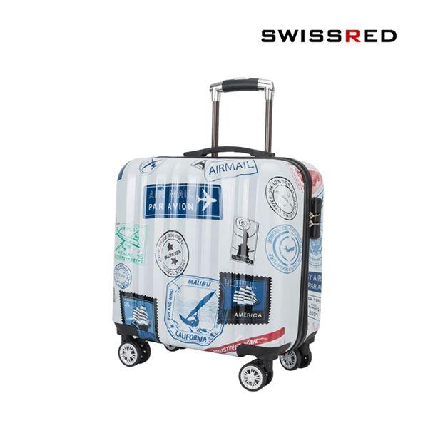 SSAMZIE 스위스레드 여행가방 미니 하드캐리어 SSAM 1383 16인치 기내용