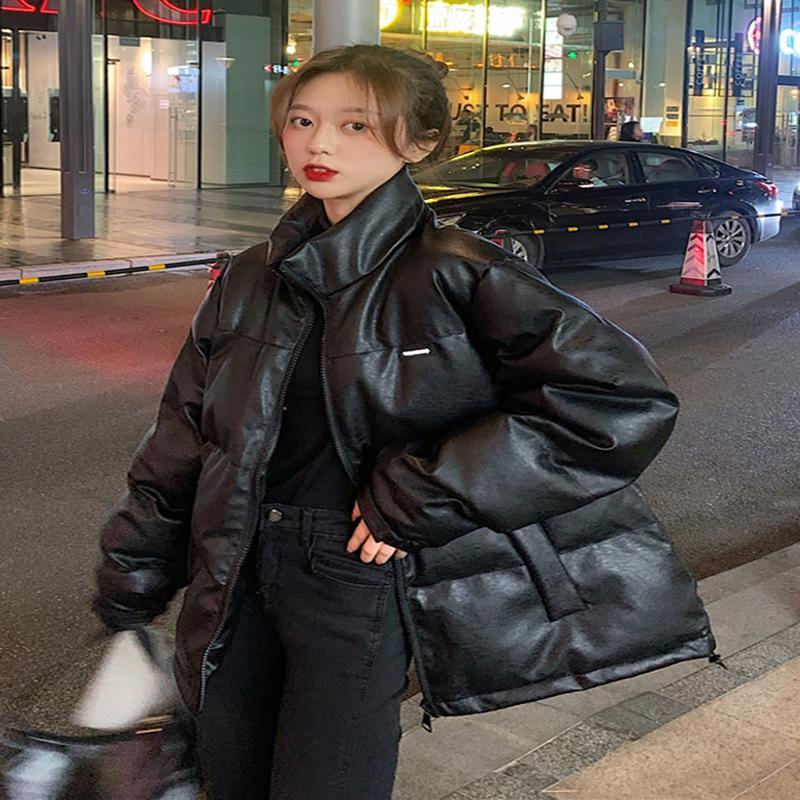 Qterra(특허브랜드) 코트 루즈핏 겨울 여성 미디 패딩