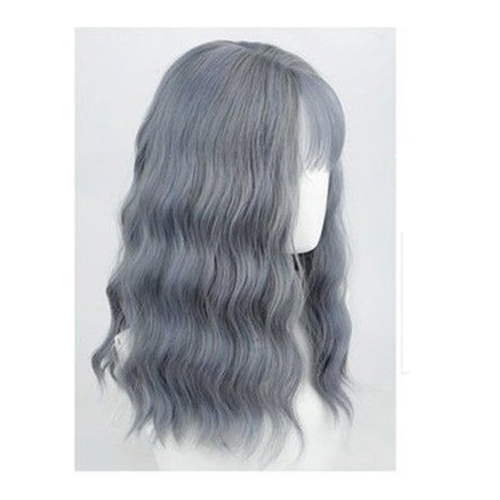 월드홀릭 가발녀 중 긴머리 옥수수 파마 자연 웨이브 머리 가발 zGB017, 1개, 멜란지네이비